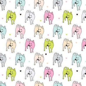 All dogs and puppy girls pastel pet print