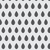 Grey Raindrop