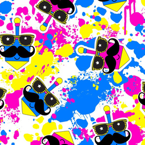 Pink Dreidel Mustache
