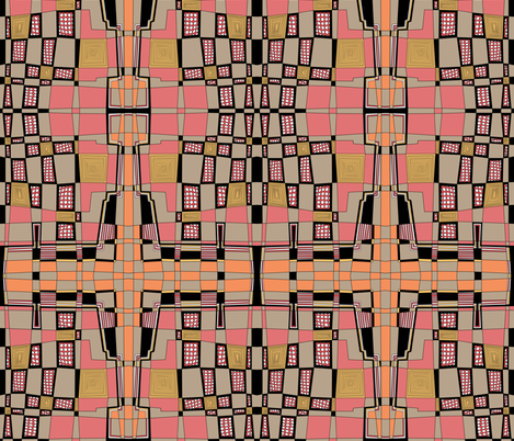 Almost Plaid Warm Tones fabric by brendazapotosky on Spoonflower - custom fabric