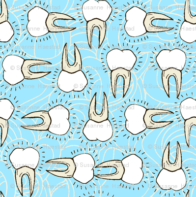 tooth on light blue