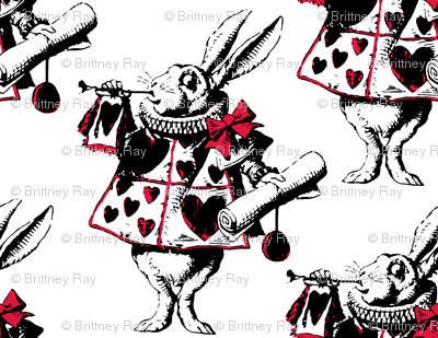 The White Rabbit with Red