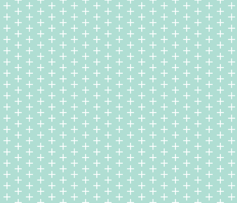 aqua skinny plus fabric by ivieclothco on Spoonflower - custom fabric