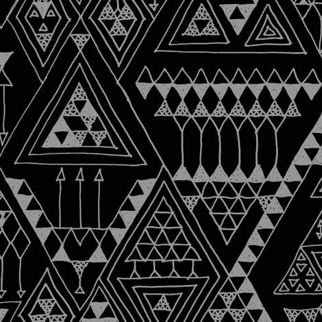 doodles - black  fabric by randomarticle on Spoonflower - custom fabric