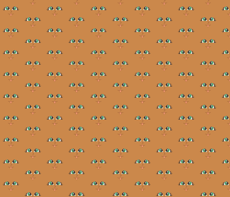 Cutie Face Brn Green Eye fabric by dianakreider on Spoonflower - custom fabric