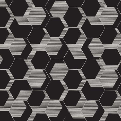 Honeycomb fabric by fourthirteen on Spoonflower - custom fabric