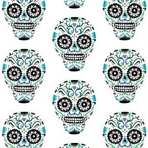 Sugar Skulls SF blue