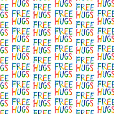 Free Hugs - colors  fabric by andibird on Spoonflower - custom fabric