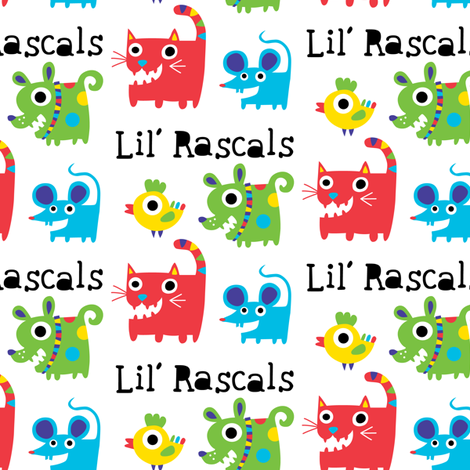 Little Rascals fabric by andibird on Spoonflower - custom fabric
