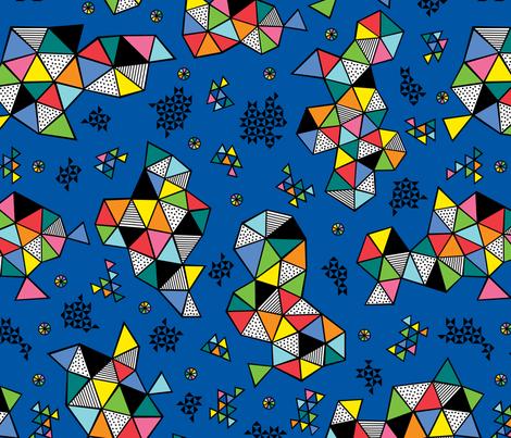 Edgewise blue fabric by andibird on Spoonflower - custom fabric