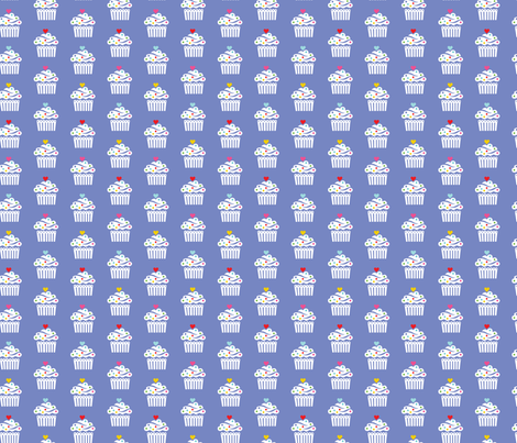 Cupcake Frilly smaller fabric by andibird on Spoonflower - custom fabric