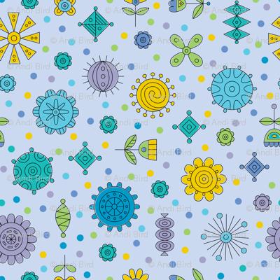 Happy Geos blue
