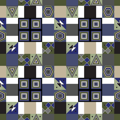 """""""Square It"""" fabric by cheli on Spoonflower - custom fabric"""