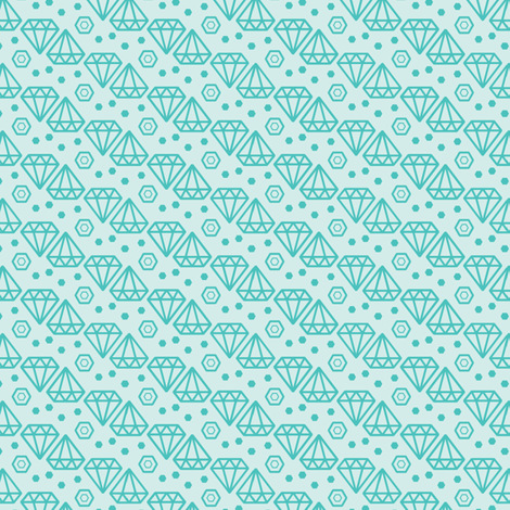 Geometric Diamond fabric by ohgnomegirl on Spoonflower - custom fabric