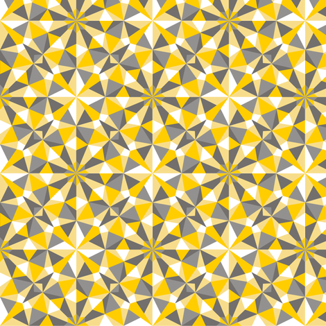 facets - Winter Sun fabric by minimiel on Spoonflower - custom fabric
