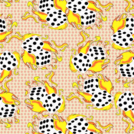 dices_colours fabric by susiprint on Spoonflower - custom fabric