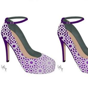 Paper Lace Flower shoes