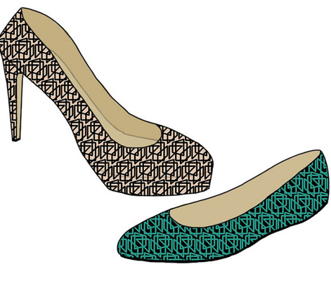 geometric_for_shoe_contest_black_on_teal