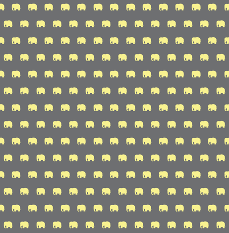 Little yellow elephants fabric by divine_domestication on Spoonflower - custom fabric