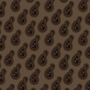 Chocolate Brown Paisley