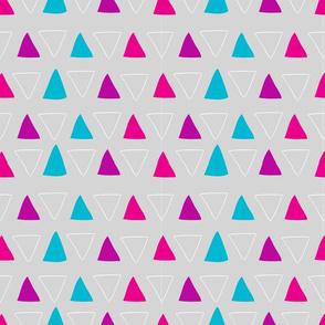 hand drawn geometric triangles