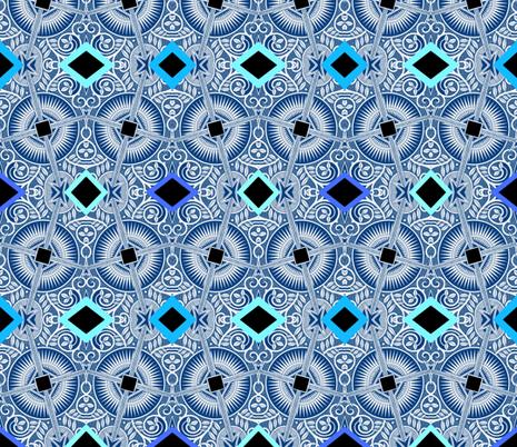 blue diamond fabric by lbehrendtdesigns on Spoonflower - custom fabric