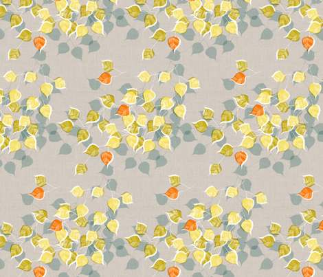 Yellow Birch fabric by mariaspeyer on Spoonflower - custom fabric