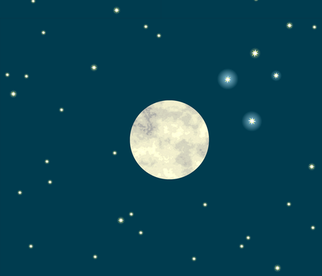 Full Moon in the Southern Sky fabric by pennyroyal on Spoonflower - custom fabric