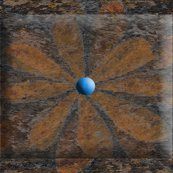 Flower_brown_layered_divided_beveled_shop_thumb