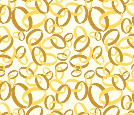 Golden Rings fabric by studiofibonacci on Spoonflower - custom fabric