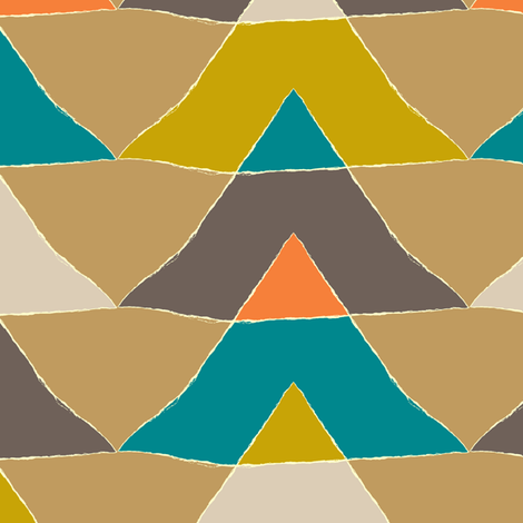 MY_colourful_TRIANGLES fabric by juliagrifol on Spoonflower - custom fabric