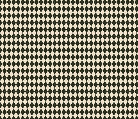 Argyle in Green and Cream fabric by jolenebalyeatdesigns on Spoonflower - custom fabric
