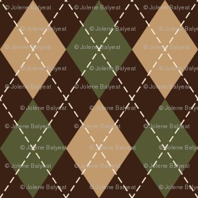 Argyle in Green, Tan & Brown
