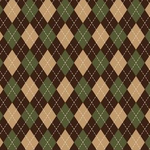 Argyle in Green, Tan & Brown