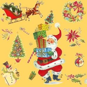 HO HO Happy vintage Christmas Santa lt