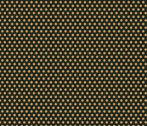 Mocha Dots on Dark Green fabric by jolenebalyeatdesigns on Spoonflower - custom fabric