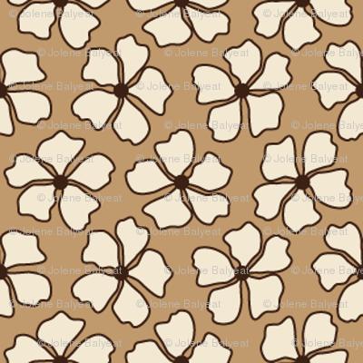 Flower Mocha Dots