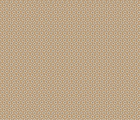 Flower Mocha Dots fabric by jolenebalyeatdesigns on Spoonflower - custom fabric