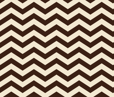 Coffee and Cream Chevron fabric by jolenebalyeatdesigns on Spoonflower - custom fabric