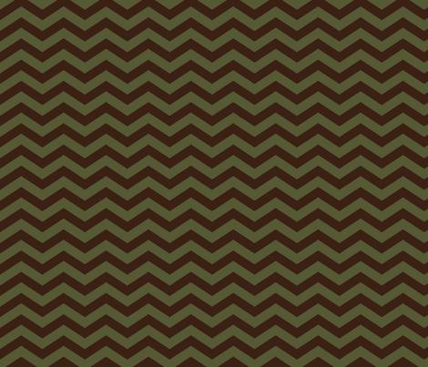 Chevron in Green and Brown fabric by jolenebalyeatdesigns on Spoonflower - custom fabric