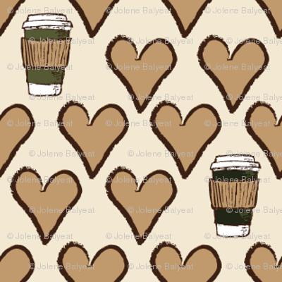 I Love a Latte in Cream