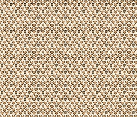 I Love a Latte in Cream fabric by jolenebalyeatdesigns on Spoonflower - custom fabric