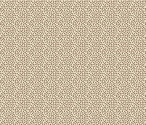 Spilled Beans in Cream fabric by jolenebalyeatdesigns on Spoonflower - custom fabric