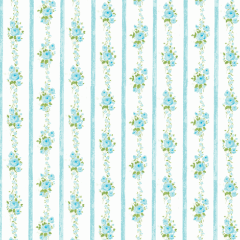 Best Rose Ticking Aqua fabric by parisbebe on Spoonflower - custom fabric