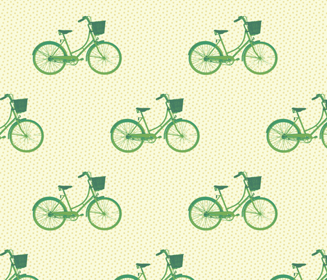 Bicycles with Baskets fabric by littlerhodydesign on Spoonflower - custom fabric