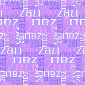 Personalised Name Fabric - Purple and Pink