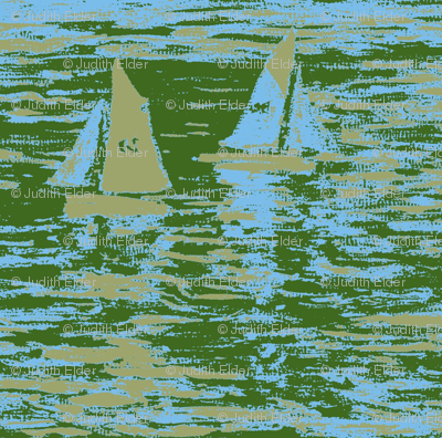 Toy Boats in Green