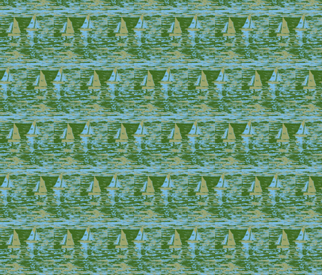 Toy Boats in Green fabric by jelder on Spoonflower - custom fabric