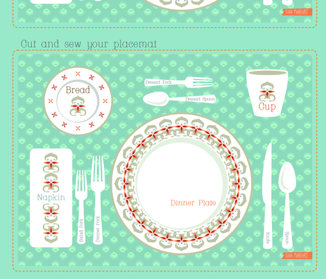 placemat fabric by gaiamarfurt on Spoonflower - custom fabric