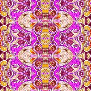 Screaming Pink Paisley Heart Squirm